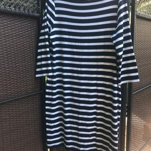 Navy/White Nautical Stripe Dress